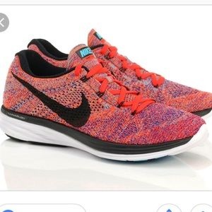 quality design 2bf8c 20940 Nike Shoes - Nike Flyknit Lunar 3 Concord Black Crimson Orange